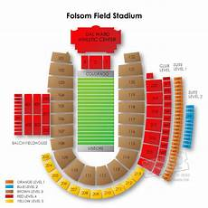 Seating Chart Folsom Field Folsom Field Stadium Tickets Folsom Field Stadium