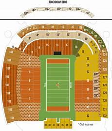 University Of Tennessee Football Stadium Seating Chart University Of Texas Football Stadium Seating Map