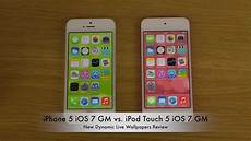 Iphone Live Vs Dynamic Wallpaper iphone 5 ios 7 gm vs ipod touch 5 ios 7 gm new dynamic