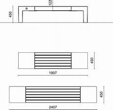 dimensioni panchina panchina moderna in legno giada metalco