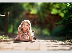 daydreaming girl child photography smile sun bokeh HD