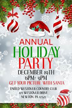 Annual Holiday Party Invitation Template Annual Holiday Party Template Postermywall