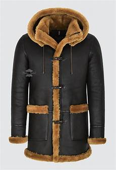 coats for with s leather sheepskin duffle coat brown fur