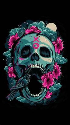 floral skull iphone wallpaper apple skull iphone wallpapers top free apple skull