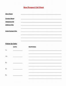 Sales Call Sheets Cold Call Sheet Template Qualads