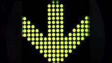 Led Arrow Light Green Led Light Arrow Pointing Stock Footage Video 100