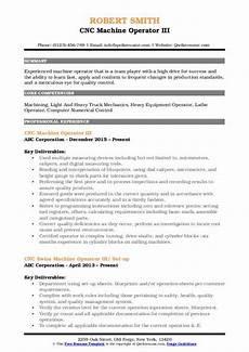 Cnc Machine Operator Resumes Cnc Machine Operator Resume Samples Qwikresume