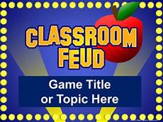 Game Show Template Classroom Feud Powerpoint Template Plays Like Family