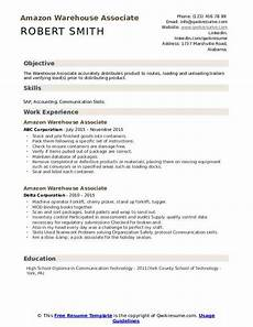 Warehouse Associate Resume Samples Amazon Warehouse Associate Resume Samples Qwikresume