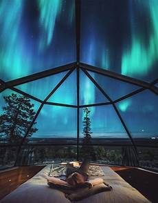 Northern Lights Glass Strange Amp Unusual Places Finland S Luxury Igloos Allow You