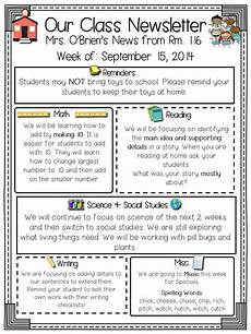 Newsletter Templates School Primary Chalkboard Class Newsletters Freebie Included