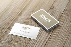 Business Mockup Business Card Mockup Pack On Wood Mousecrafted