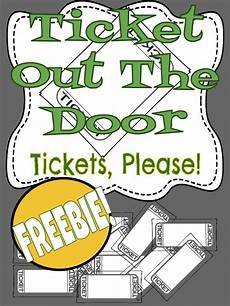 Ticket Out The Door Printable Ticket Out The Door Template General Music Lesson Plans