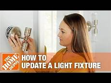 How To Install Ceiling Light In Old House How To Update A Light Fixture The Home Depot Youtube