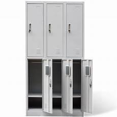 vidaxl co uk metal locker cabinet 6 doors grey