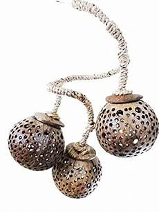 Coconut Shell Lights Handmade Home Decorative 3 Ball Coconut Shell Garden