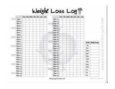 Weight Loss Logs Free Printable Weight Loss Log