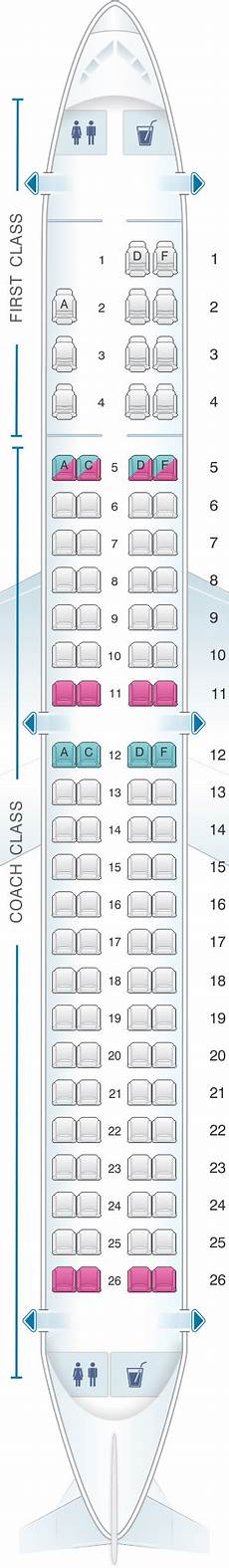 American Eagle Seating Chart Seat Map Us Airways Embraer 175 Seatmaestro