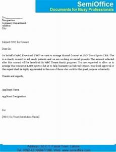 Sample Of Noc Letter From Company Letter For Noc Request No Objection Certificate From