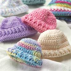 crochet knit newborn caps yarnspirations