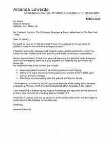 Pediatric Nurse Cover Letters Nursing Cover Letter Sample