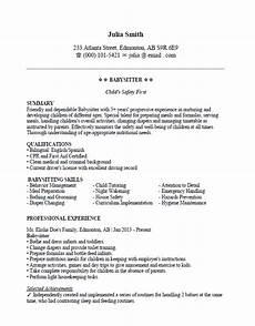 Babysitter Cv Example Best Babysitting Resume Sample And Format Clr