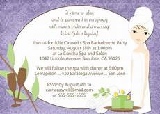 Spa Party Invitation Wording Spa Bachelorette Party Invitation