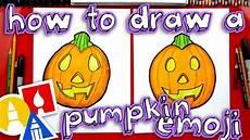 Easy Emoji Art How To Draw The Pumpkin Emoji Youtube