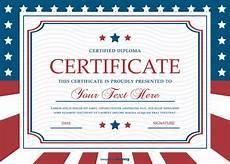 Patriotic Template Patriotic Style Certificate Template Download Free