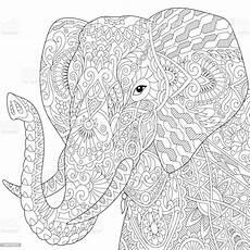elefanten malvorlagen buch stock vektor und mehr