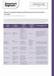 Company Assessment Template Risk Assessment Template