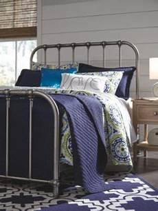 nashburg metal bed silver in 2020 metal beds