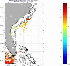 Sst Charts Rutgers Florida Current Sea Surface Temperatures Sunday July 23