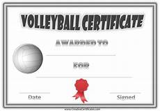 Volleyball Certificate Templates Free Volleyball Certificate Templates Customize Online