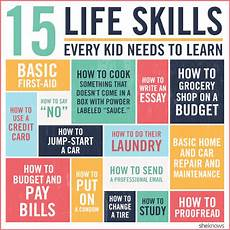 Different Skills 15 Vital Life Skills Every Kid Should Know Before They