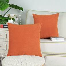 calitime pack of 2 cozy throw pillow covers cases for