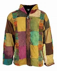 button patchwork jacket karma gear