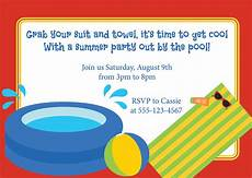 Pool Party Invitations Wording Pool Party Invitation Wording Party Invitation Collection