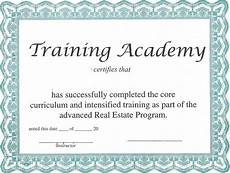 Certificate Of Training Template Free Blank Certificate Templates To Print Activity Shelter