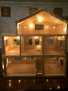 Design A Dolls House Dollhouse Made Entirely From Popsicle Sticks Dollhouse New