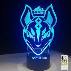 Fortnite Night Light Sky Wolf Mask Skin Fortnite Game Fans Holiday Play Gift 3d