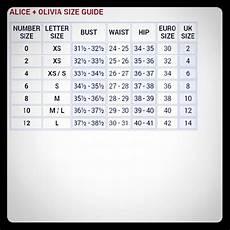 Alice Dresses Alice Size Chart Poshmark