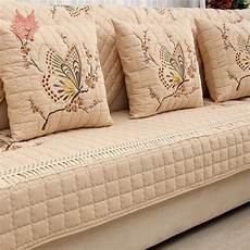 pastoral butterfly embroidered sofa cover slipcovers