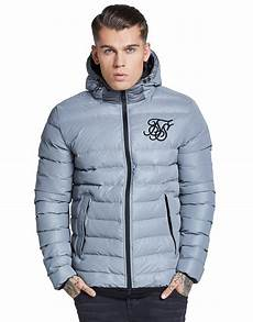 coats for reflective siksilk reflective bomber jacket in gray for lyst