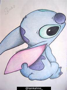 stitch colored pencils drawing by iamkahina on deviantart