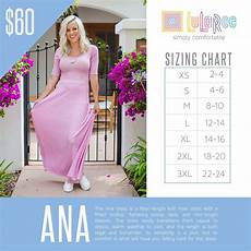 Marina Dress Size Chart 2016 Lularoe Ana Dress Sizing Chart Lularoe Ana Dress