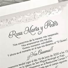 Invitaciones De Boda Ejemplos Invitaci 243 N De Boda Cl19 Amentia New