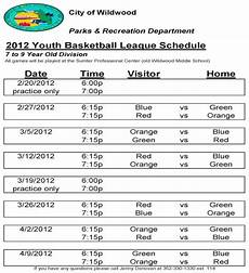 Free Basketball Schedule Maker Free 13 Game Schedule Samples In Pdf