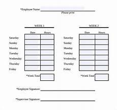 2 Week Time Card Calculator Simple Weekly Timesheet 13 Simple Timesheet Templates
