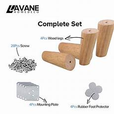 12 inch 30cm wooden furniture legs la vane set of 4